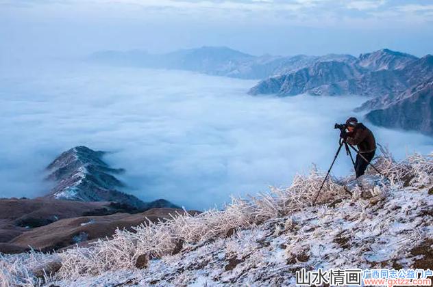 桂林2017年冬天的第一场雾凇雪竟如此娇艳!