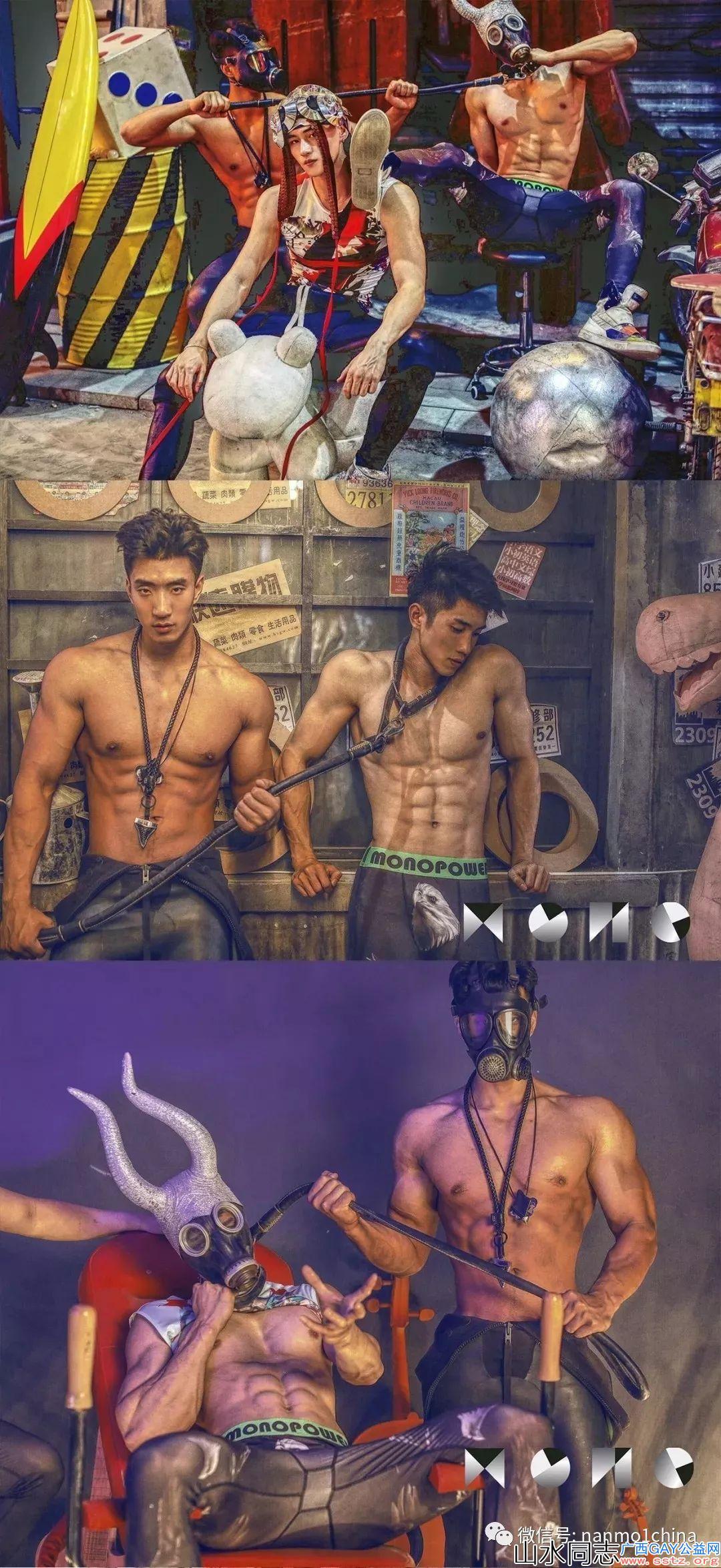 【帅图鉴赏】肌肉男模拍时尚大片*炫彩诱惑荷尔蒙十足