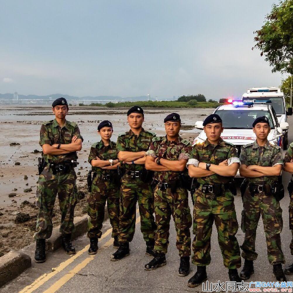 真实的香港警察,跟电视上一样,太帅了